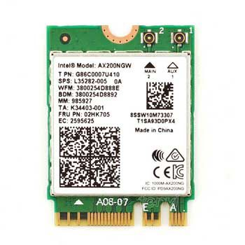 Intel® Wi-Fi 6 AX200.NGWG.NV